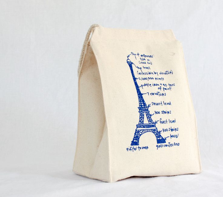 Paris Bound? by Girls Can Tell. We love the designs they put on our lunch bags!