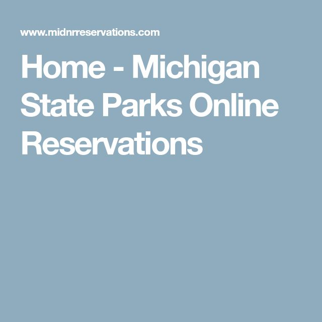 Home - Michigan State Parks Online Reservations