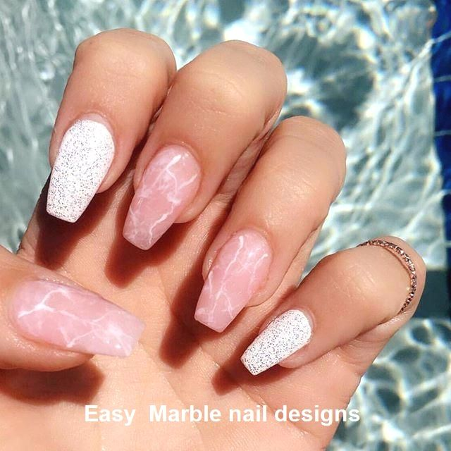 25 Marmornagel Design mit Wasser & Nagellack 2 – Nägel