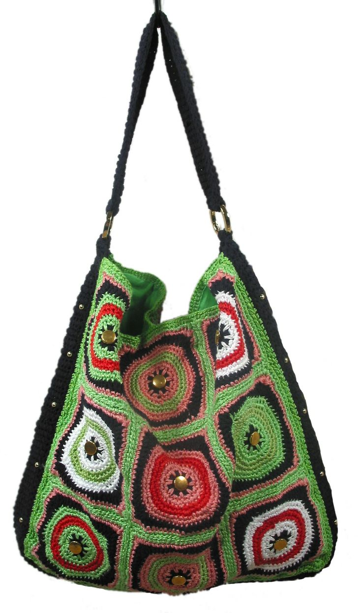 Knit and Crochet Pattern - Handy Hobo Handbags