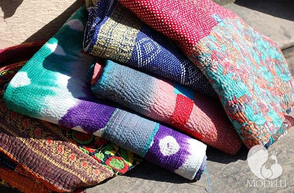 Decorative Sari throws