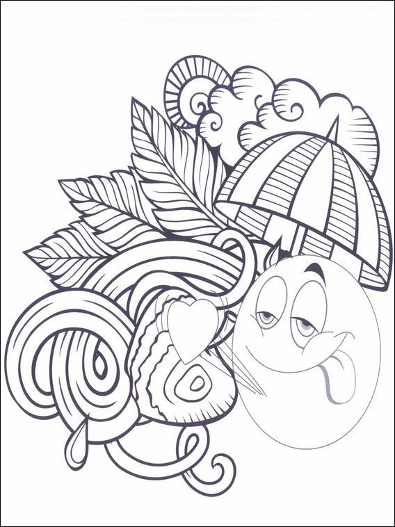 Emojis Emoticons Coloring Pages 25 Desenhos Para Colorir