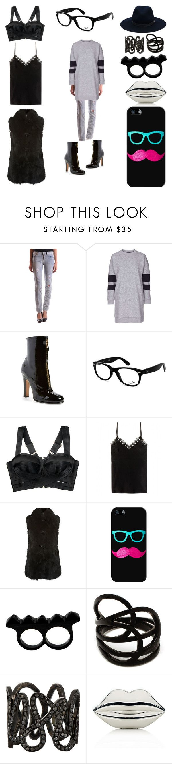 """""""Tirana, Albania"""" by creation-gallery on Polyvore featuring LIU•JO, Topshop, Valentino, Ray-Ban, Bordelle, Alexander McQueen, M. Miller, Casetify, L'Artisan Créateur and Repossi"""