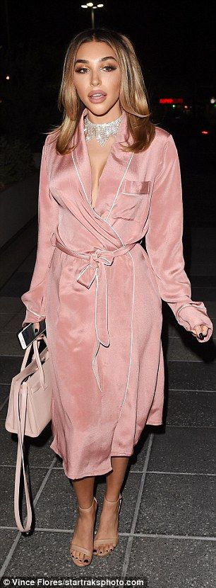 Turning heads: Justin Bieber's former fling Chantel Jeffries rocked a dusky pink trench co...