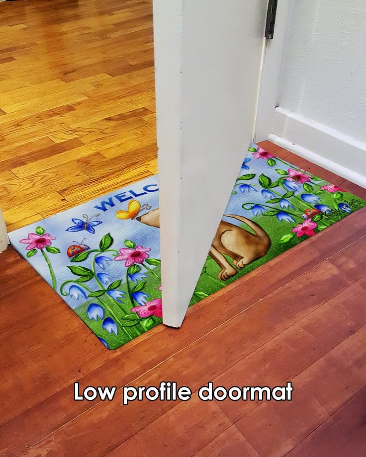 Toland Home Garden Welcome Dog 18 X 30 Inch Decorative Puppy Floor Mat Floral Spring Doormat Be Sure To Examine Out Thi With Images Spring Doormats Door Mat Floor Mats