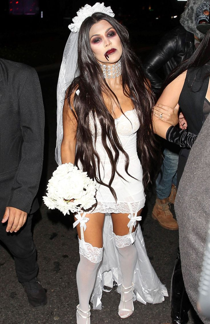 Kourtney Kardashian Makes Her Dead Bride Costume Look Sexy from InStyle.com