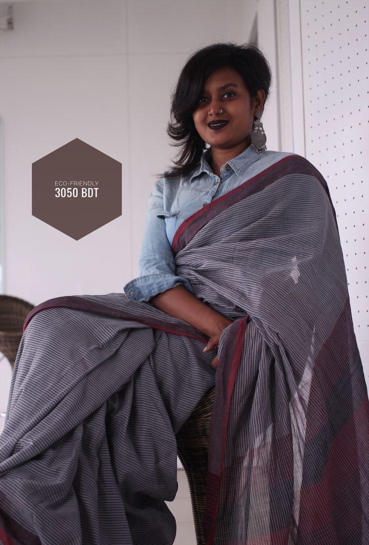Eco-friendly saree by Menka