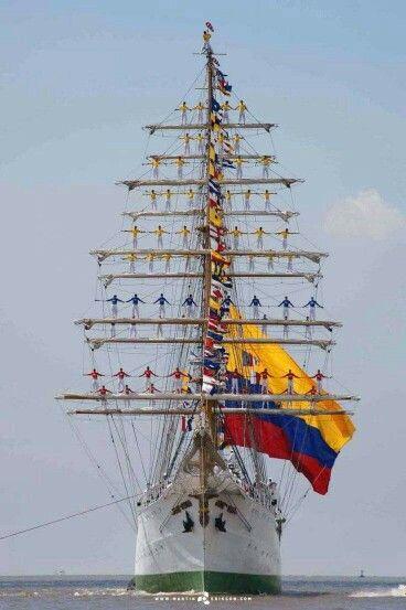 . Barco insignia de colombia. ARC GLORIA