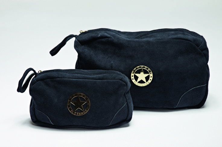 Classic suede leather make-up and toilet bags from FLORENCE DESIGN <3