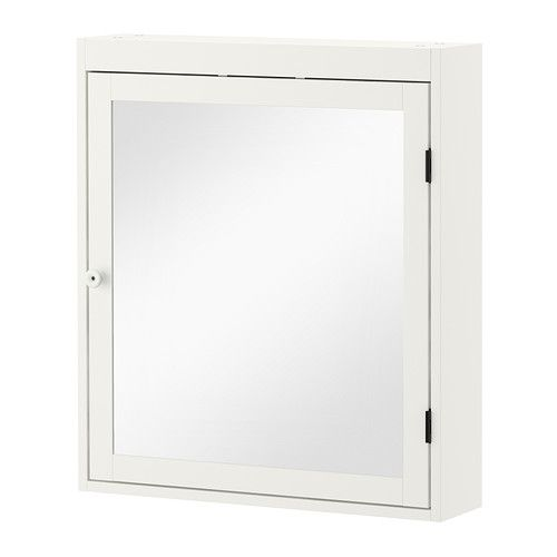IKEA - SILVERÅN, Mirror cabinet, white, , You can mount the door to open from the right or left.Perfect in a small bathroom.
