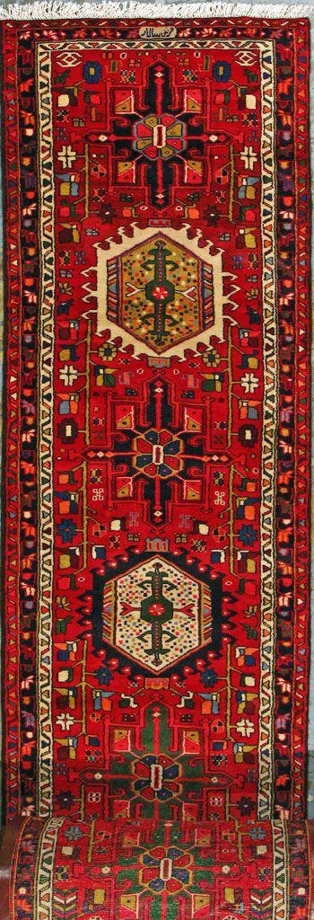 """Gharajeh Persian Rug, Buy Handmade Gharajeh Persian Rug 2' 9"""" x 47' 7"""", Authentic Persian Rug"""