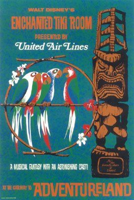 Poster Art of the Disney Parks - Tiki Room