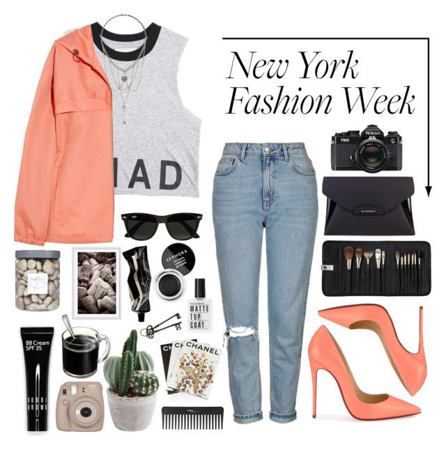 """""""✭New York Fashion Week✭"""" by beatrizmx3 ❤ liked on Polyvore featuring Assouline Publishing, A.P.C., Topshop, Givenchy, Christian Louboutin, Ray-Ban, Sephora Collection, Aesop, Bobbi Brown Cosmetics and Pottery Barn"""