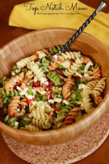 My moms perfect pasta salad always sends me to heaven whenever i have it.