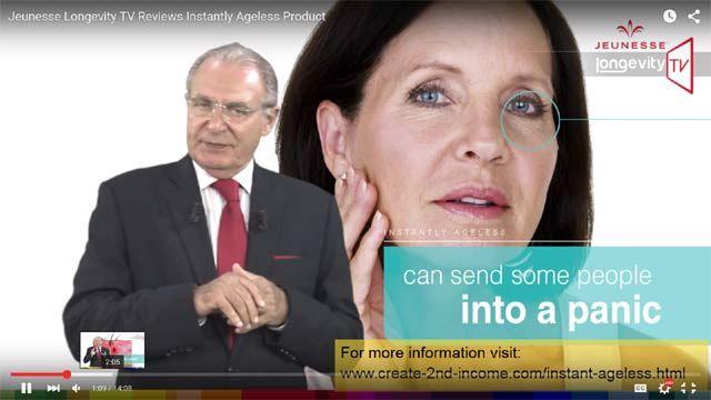 Jeunesse Instantly Ageless Cream Reviewed on Longevity TV - http://create-2nd-income.com/wordpress/2015/09/26/instantlyageless-onlongevitytv/