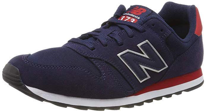 New Balance 373 Core Sneakers Herren Blau Rot New Balance Blaue Schuhe Blau
