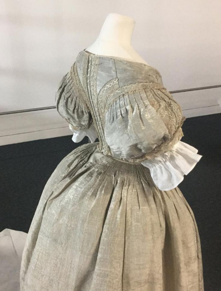 Silver Tissue Dress from the Fashion Museum Bath