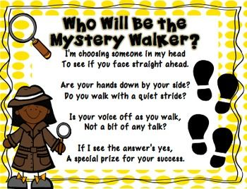 MYSTERY WALKER CLASSROOM MANAGEMENT KIT - TeachersPayTeachers.com