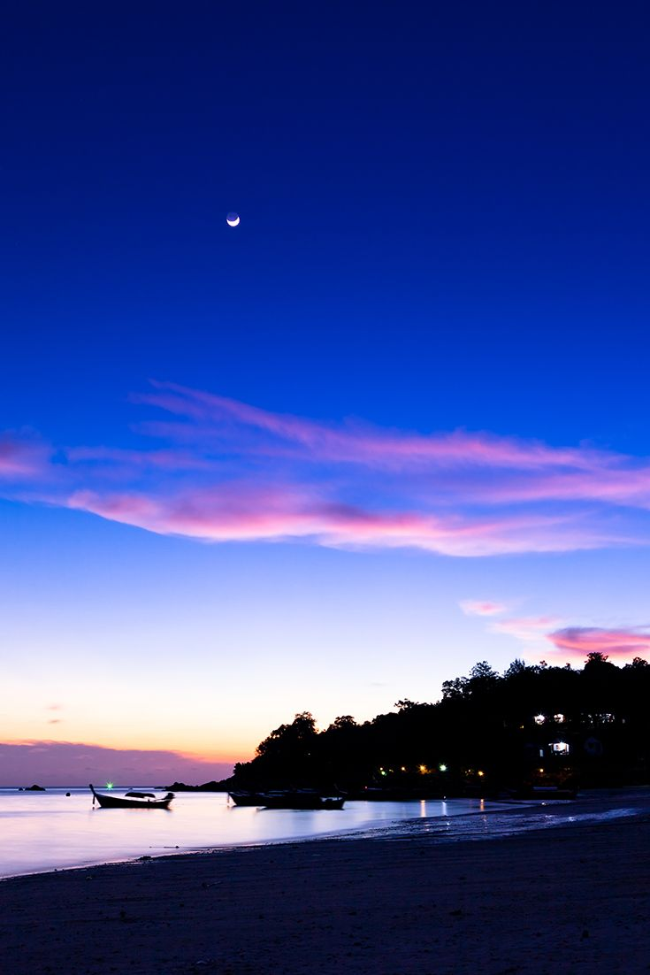Amazing #dusk at Koh #Lipe, #Thailand. #KohLipe is a small island in the south of Thailand near the Malaysian border. #Idyllic white-sand shores of the island are washed by turquoise waters of the Andaman #Sea. Koh Lipe located close to Tarutao National Marine Park and its wildlife rich waters are ideal for snorkeling.