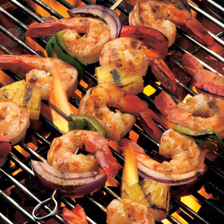 Lawry's® Baja Chipotle Marinade makes summertime grilling a snap. For these kabobs, marinate shrimp, then thread onto skewers with pineapple, onion and bell peppers.