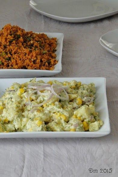 Hardallı Patates Salatası     Malzemeler;   4 - 5 adet patates   1 adet soğan   Dere otu ve mısır taneleri   Yoğurt 1 yemek kaşığı dol...