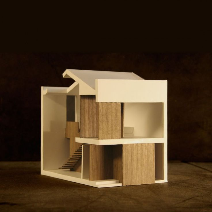 New Mews House | Jonathan Tuckey Design, West London, UK - 1:50 sectional model of the New Mews House.