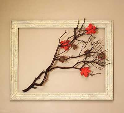 Ideas para decorar la casa en otoño con ramas y troncos. | Mil ideas de Decoración
