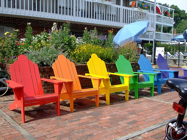Gayest Adirondack chairs ever. by grapefruitmoon, via Flickr