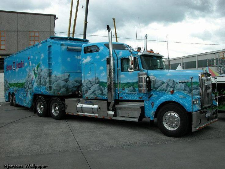 Custom paint on tractor and trailer cant imagine what