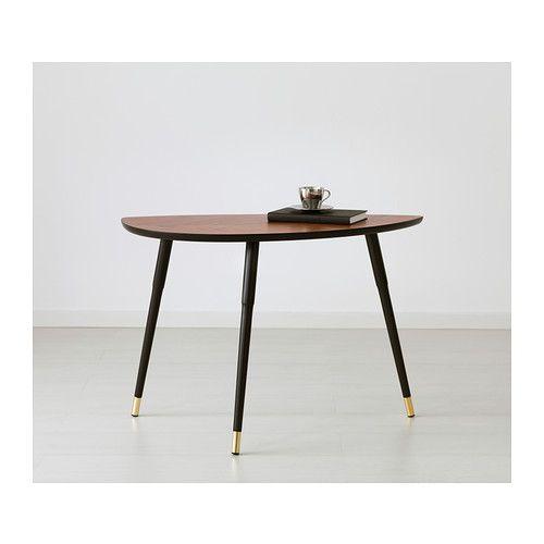 LÖVBACKEN Side table, medium brown 77x39 cm medium brown