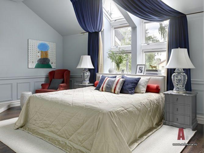Фото интерьера спальни таунхауса в американском стиле
