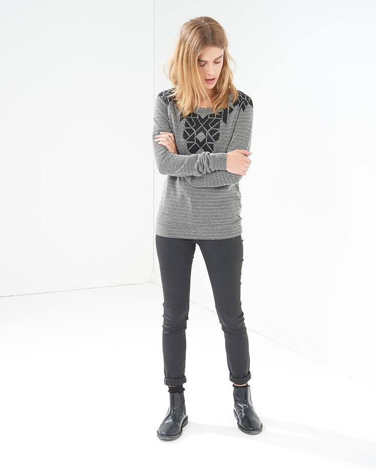 Maison Scotch Patched and Quilted Sweatshirt - Atterley Road