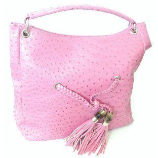 Handtasche pink - Straußenlederoptik - ca. 40 cm x     35 cm