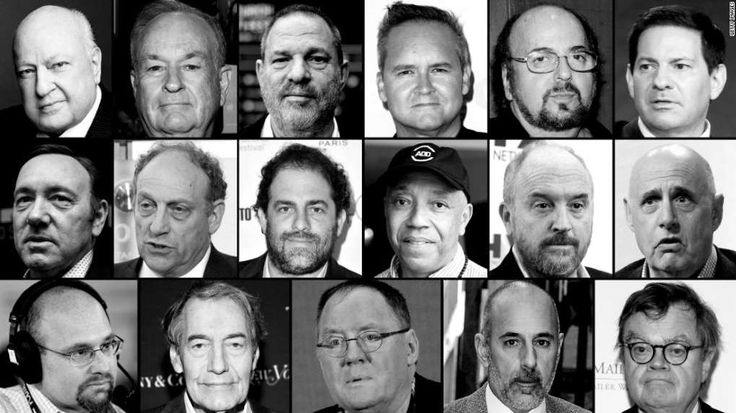 I worked for Charlie Rose. Calling him a villain isn't the answer   -  December 1, 2017.  Image: Kevin Spacey, Roger Ailes, Bill O'Reilly, Charlie Rose, Harvey Weinstein, Brett Ratner, Russell Simmons, Matt Lauer, Louis C.K., James Toback, Garrison Keillor, Mark Halperin, Jeffrey Tambor et al. posing for a photo