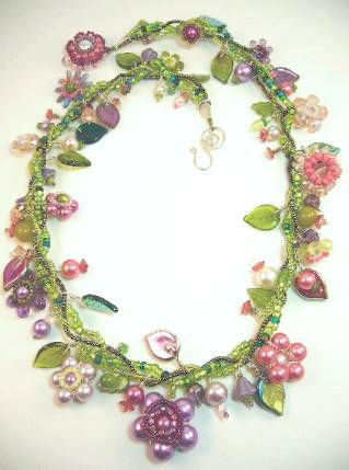 Necklace Design Ideas jewelry making jewelry making jewelry making jewelry making ideas jewelry making ideas jewelry organizer jewelry storage Beaded Necklace Designs The Seed Bead Vines In This Bead Floral Necklace By Designsbymadalynne