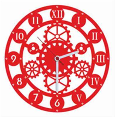 Tıme Kırmızı Kadife Duvar Saati 33 cm | cazip geldi