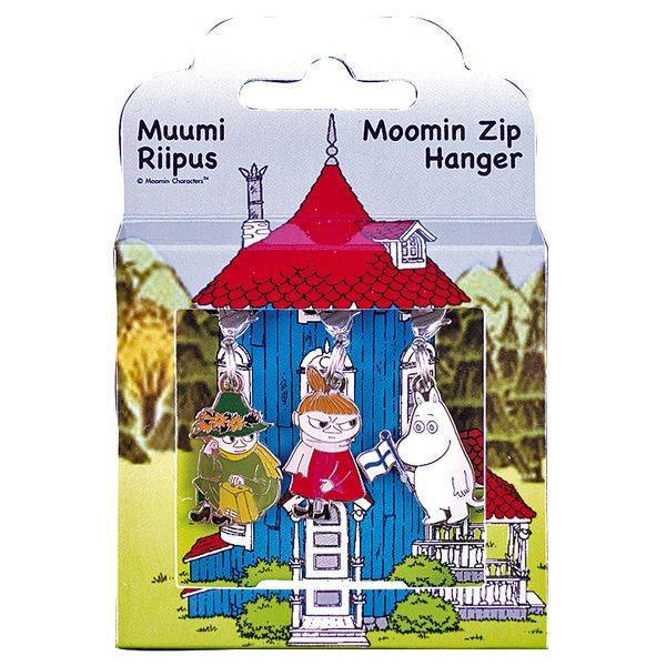 Moomin Zipper set with 3 charms