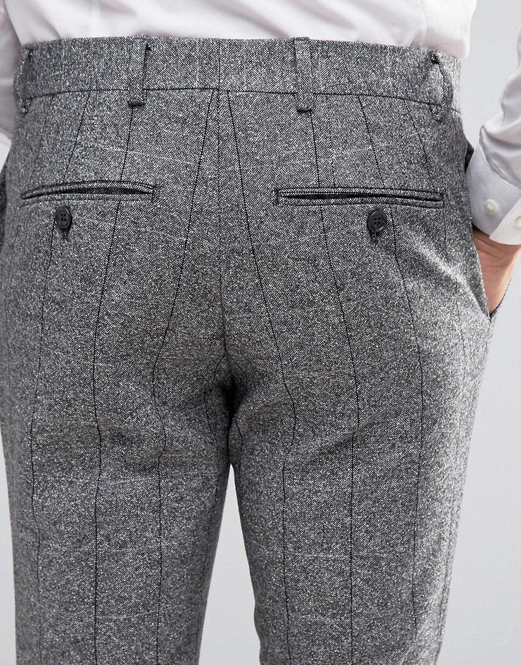 Image 3 ofJack & Jones Premium Skinny Smart Trouser In Flecked Check
