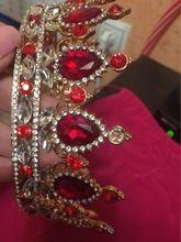 Online Shop Hot European Designs royal king queen crown rhinestone tiara head jewelry quinceanera crown Wedding bride Tiaras Crowns Pageant   Aliexpress Mobile