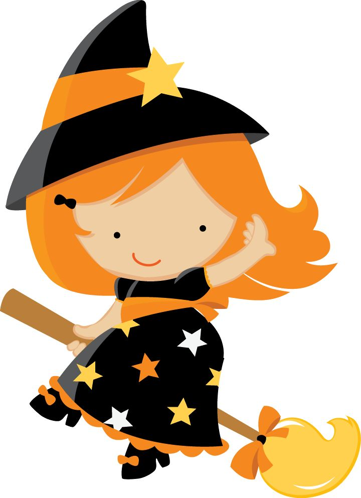 HALLOWEEN BABY WITCH CLIP ART: