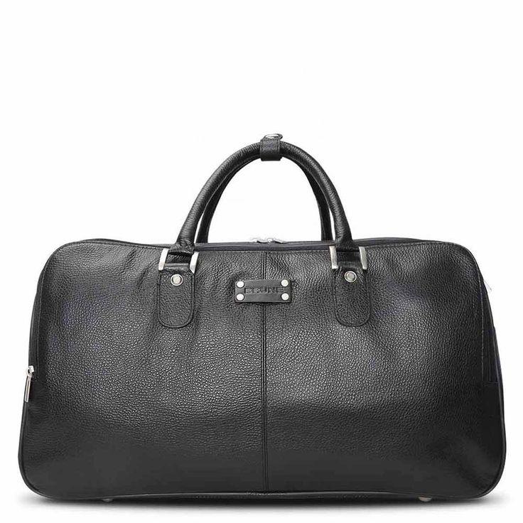 #Brune #Leather #Black #Travel #Duffle