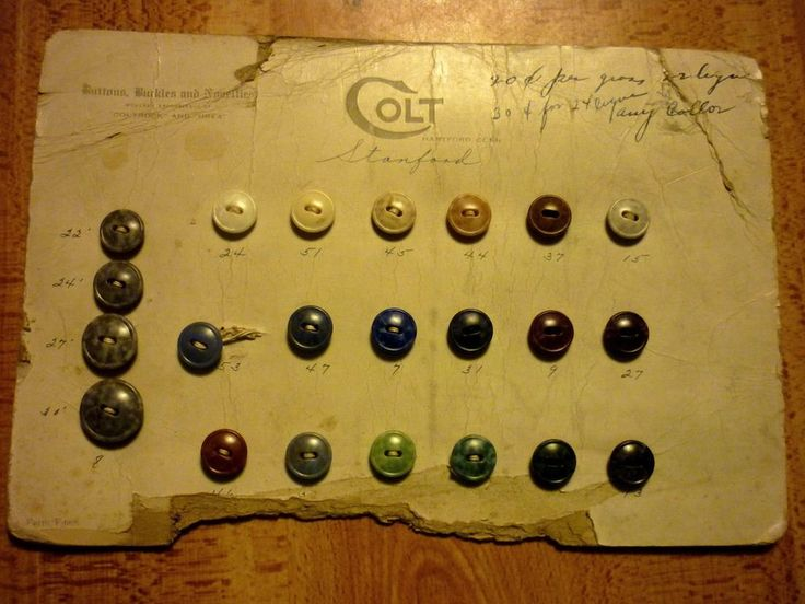 Rare Vintage COLT Plastics Company 22 Button Sales Sample Card Coltrock Stanford | Collectibles, Sewing (1930-Now), Buttons | eBay!