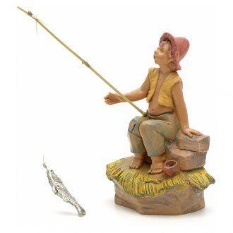 Ragazzo pescatore presepe Fontanini 12 cm | vendita online su HOLYART