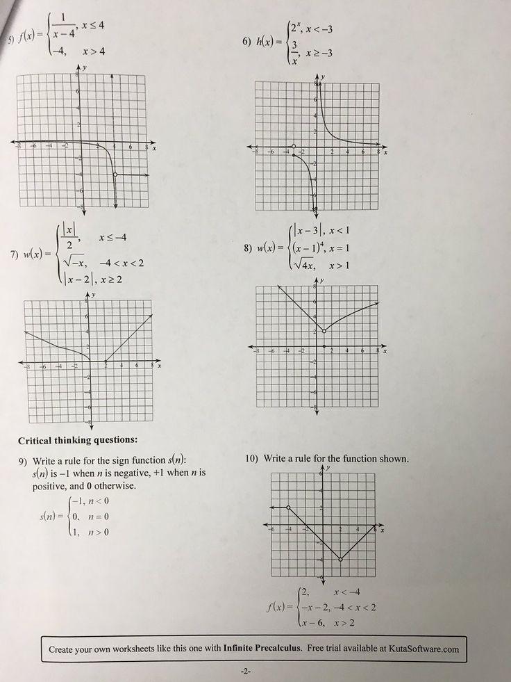 Graphing Piecewise Functions Worksheet Worksheets Worksheet Template Graphing