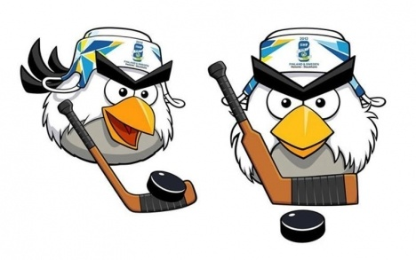 Angry Birds playing hockey - in Finland of course!