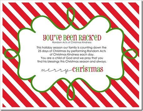 Random Acts of Christmas Kindess