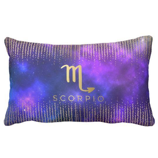 Scorpio Sign Custom Name Lumbar Throw Pillow