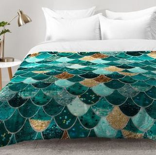 MERMAID BEDDING! Discover the best mermaid bedding sets, quilts, comforters, duvet covers, sheets, shams, throw pillows, and crib bedding sets. You can find coastal mermaid bedding and little mermaid bedding at Beachfront Decor.