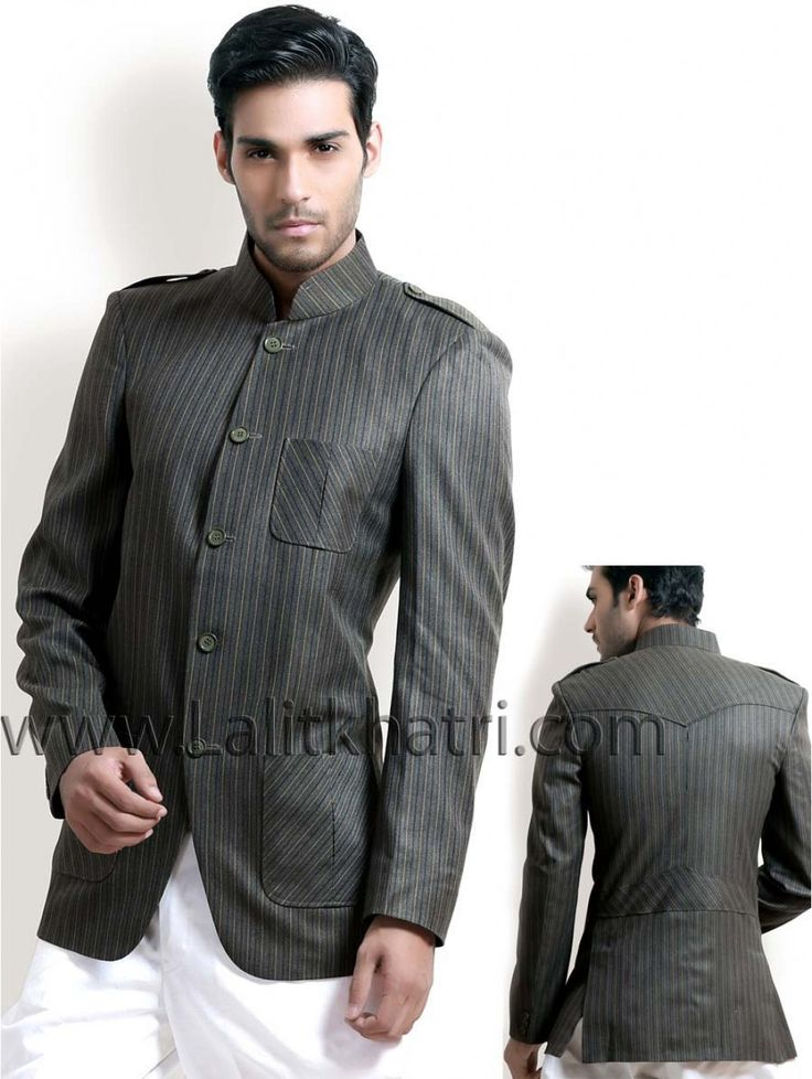 #Blazer Stylish collar, button, pockets and opening panel adds to the stylish looks.  Item Code : SJB5004 http://www.lalitkhatri.com/label/men/coats/hunting-coats.html