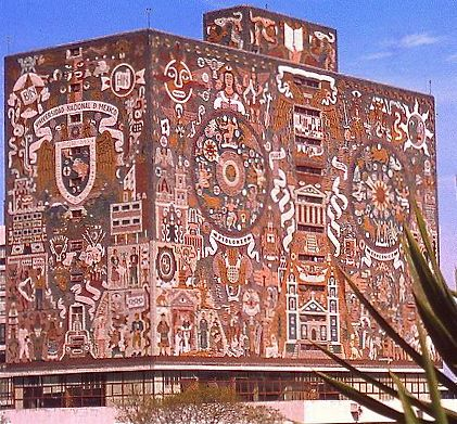 UNAM Library, Mexico City by Juan O'Gorman
